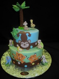 Animal Theme Baby Shower Cakes - CakeCentral.com