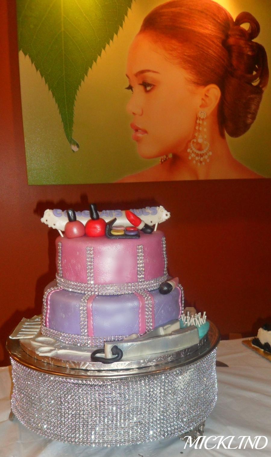 Hair Salon Themed Cake  CakeCentralcom