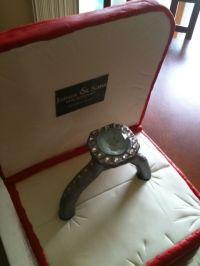 Engagement Ring Box Cake White Almond Cake With Vanilla ...