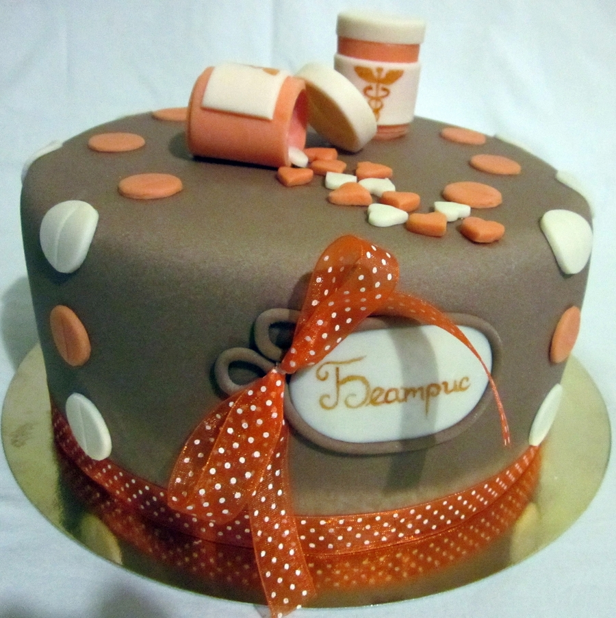 Pharmacy B Day Cake Cakecentral Com