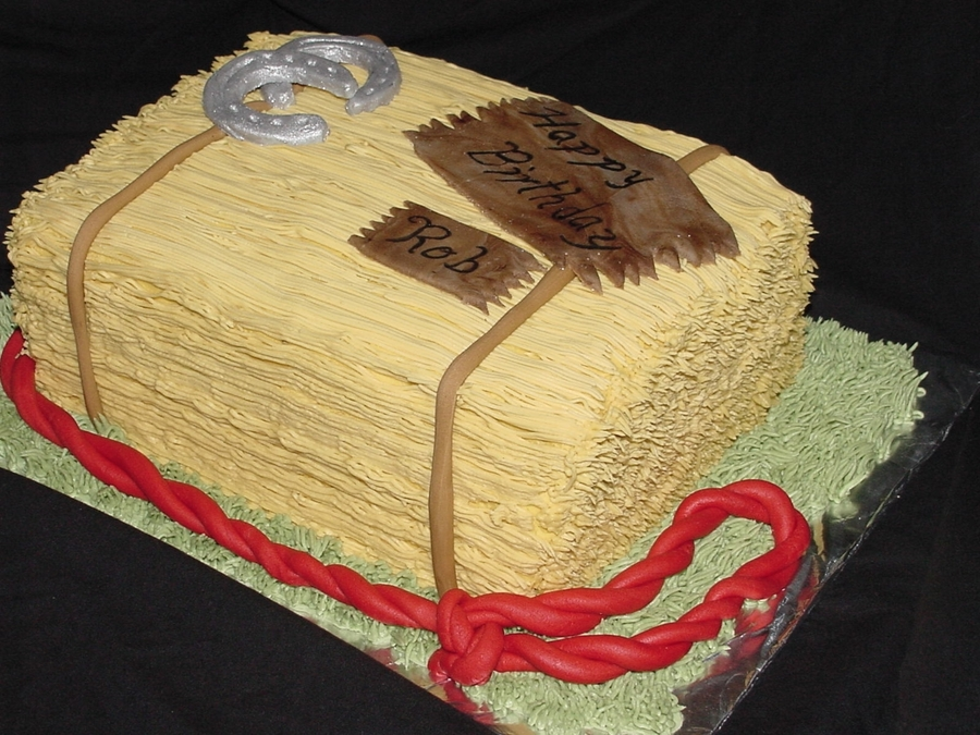 Buttercream Hay Bale Cake Cakecentral Com