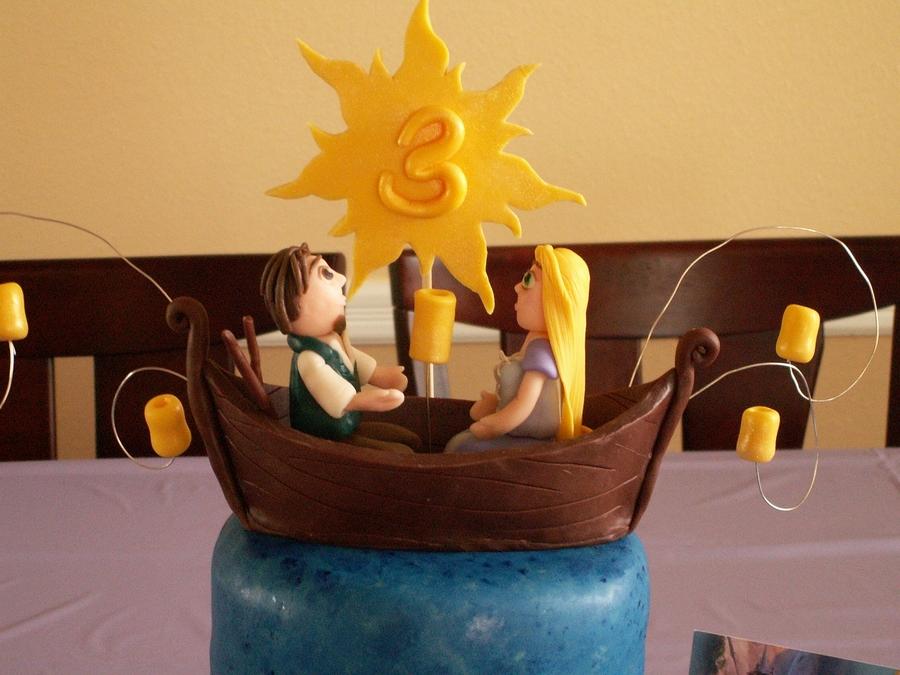 Tangled  Boat Scene  CakeCentralcom