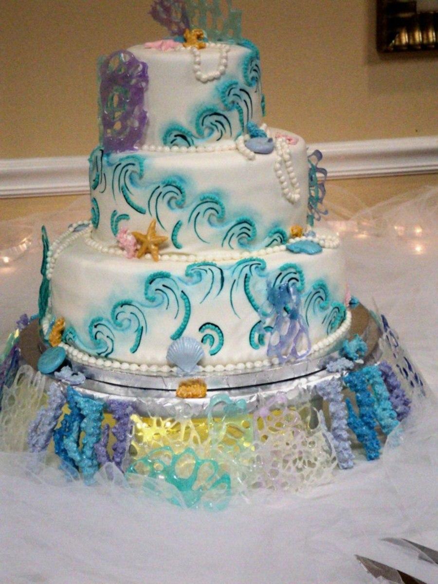 Under The Sea Wedding Cake  CakeCentralcom