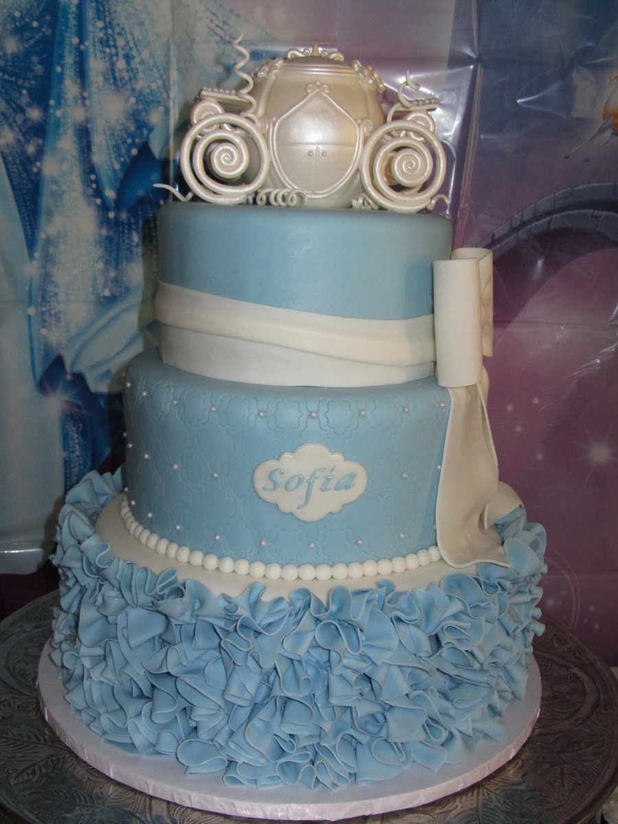 Cinderella Cake For My Daughters 3Rd Birthday Used A 8 10