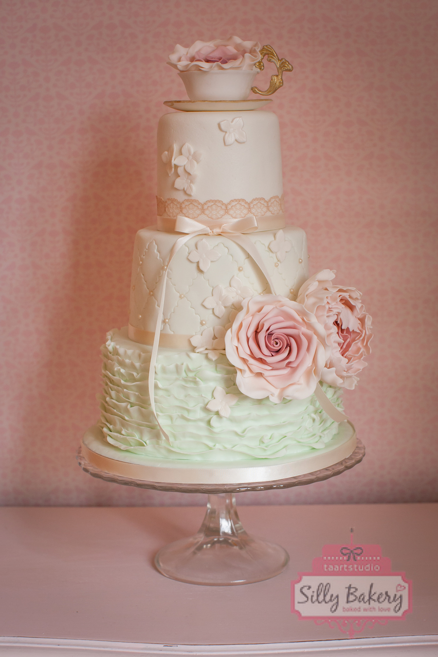 Wedding Cake Vintage Teacup  CakeCentralcom