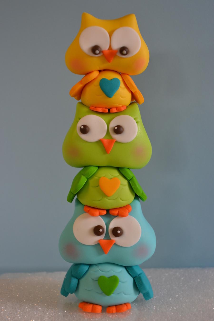 Gumpaste Owl Cake Topper Cakecentral Com