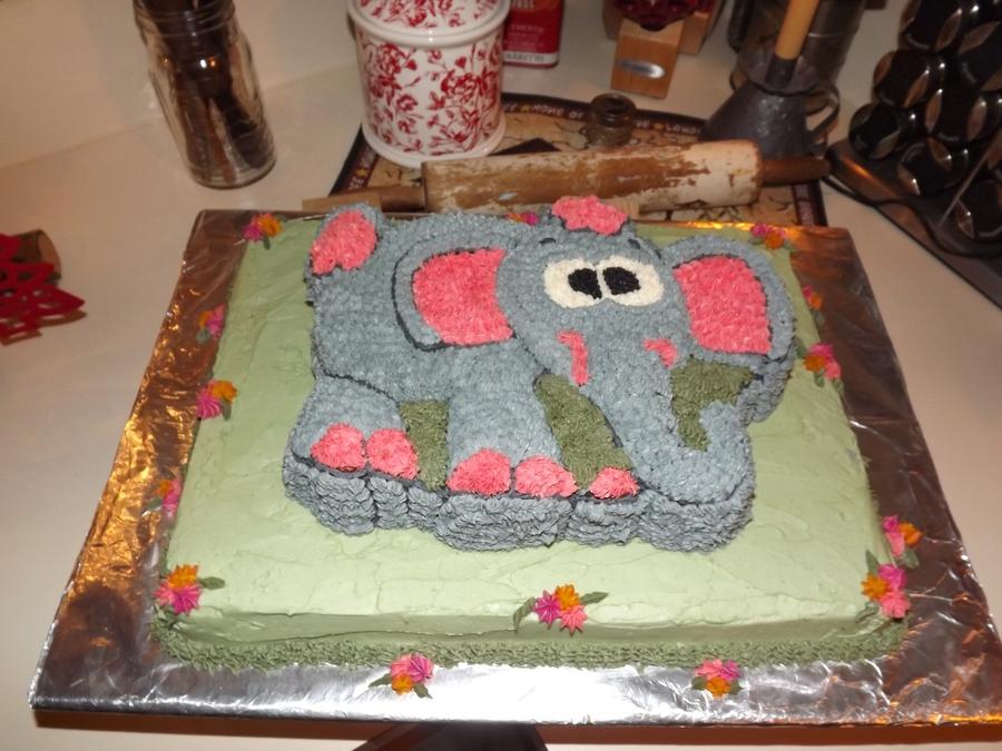 Elephant Baby Shower Cake Cakecentral Com