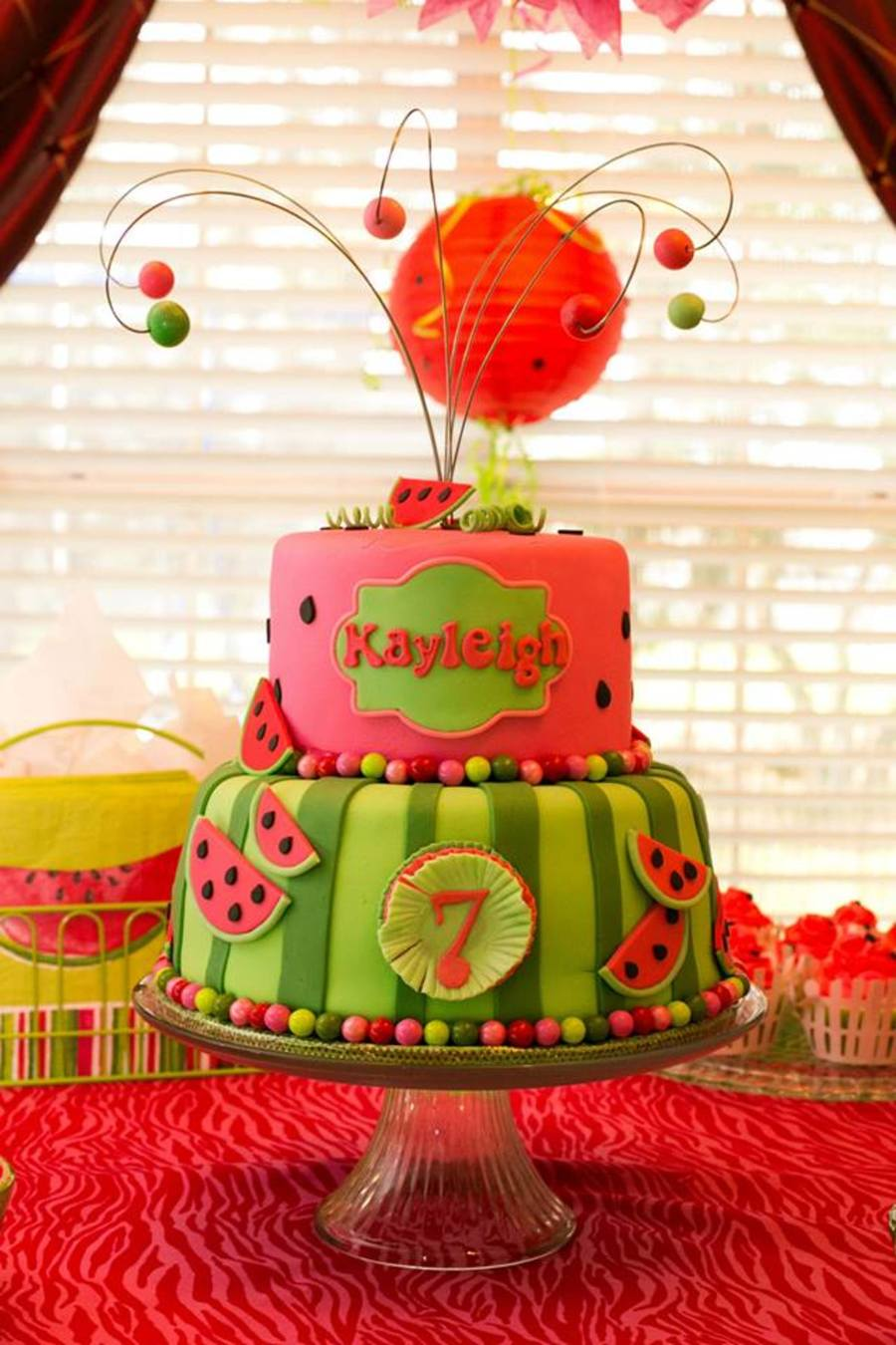 Watermelon Theme Birthday Cake Cakecentral Com