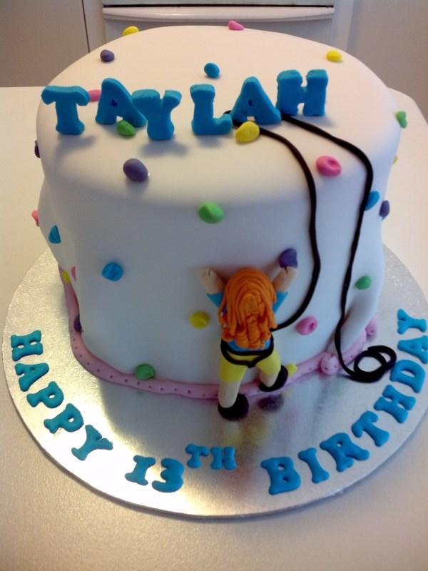 Rock Climbing Themed Birthday Cake