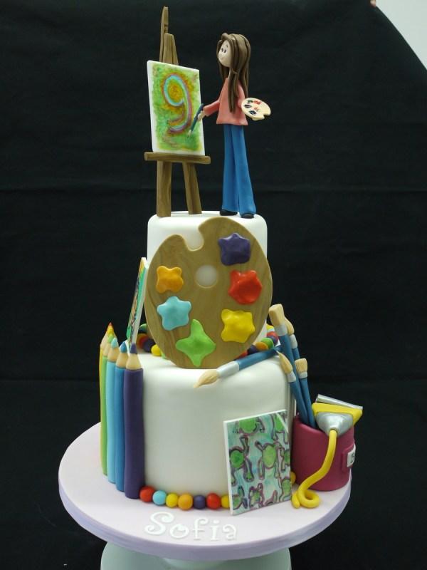 Artist Themed Birthday Cake