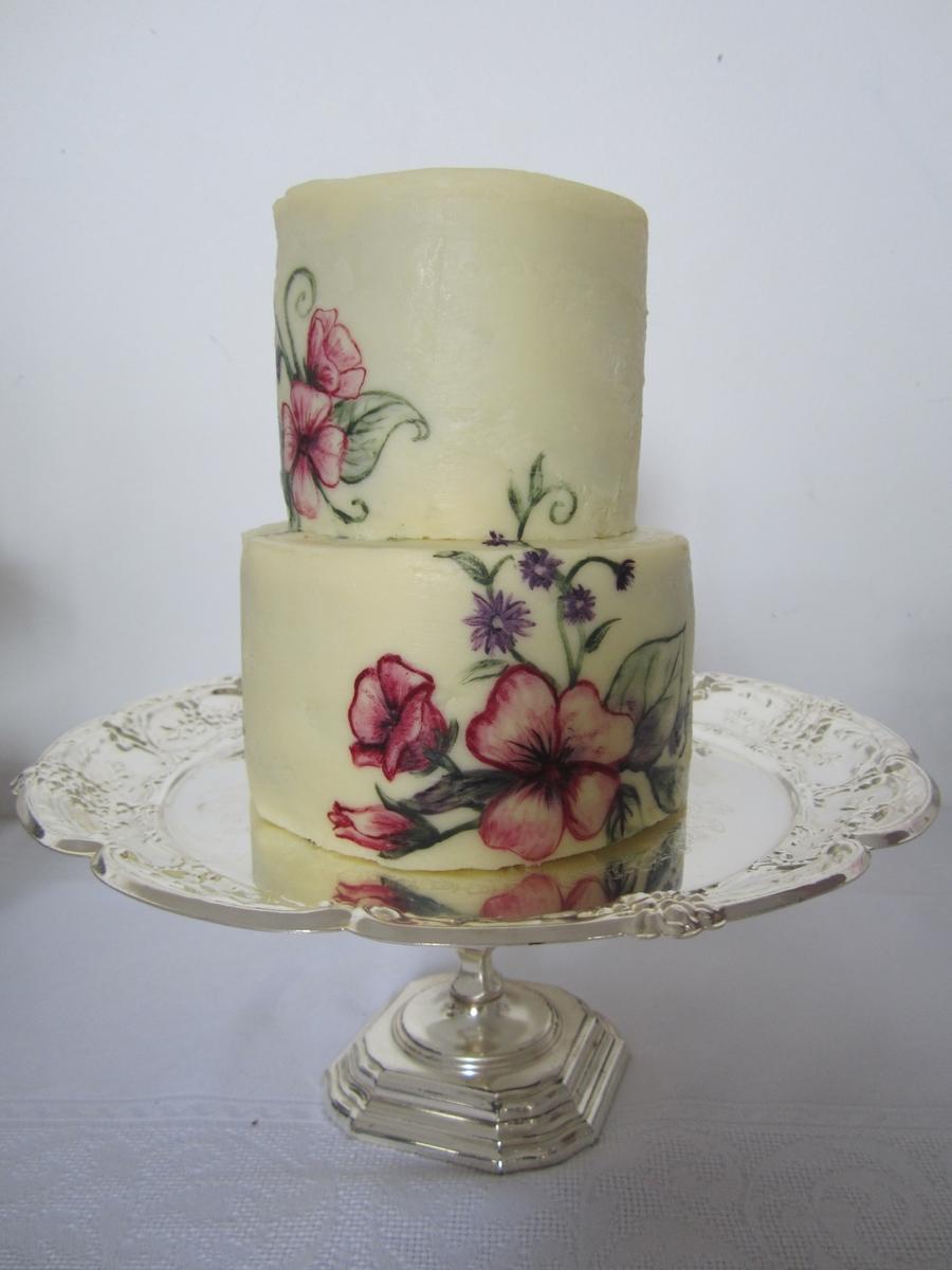 Painted Ganache Cake