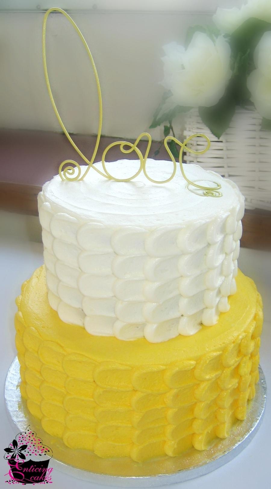 Yellow Petal Cake  CakeCentralcom