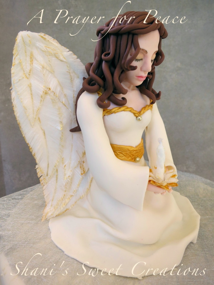 A Prayer For Peace Christmas Angel Cake Topper Made With