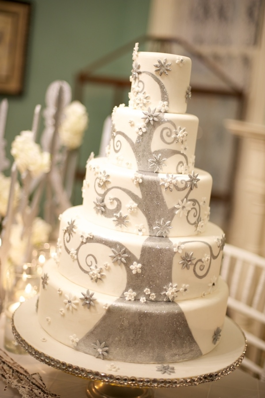 Winter Fantasy Wedding Cake  CakeCentralcom