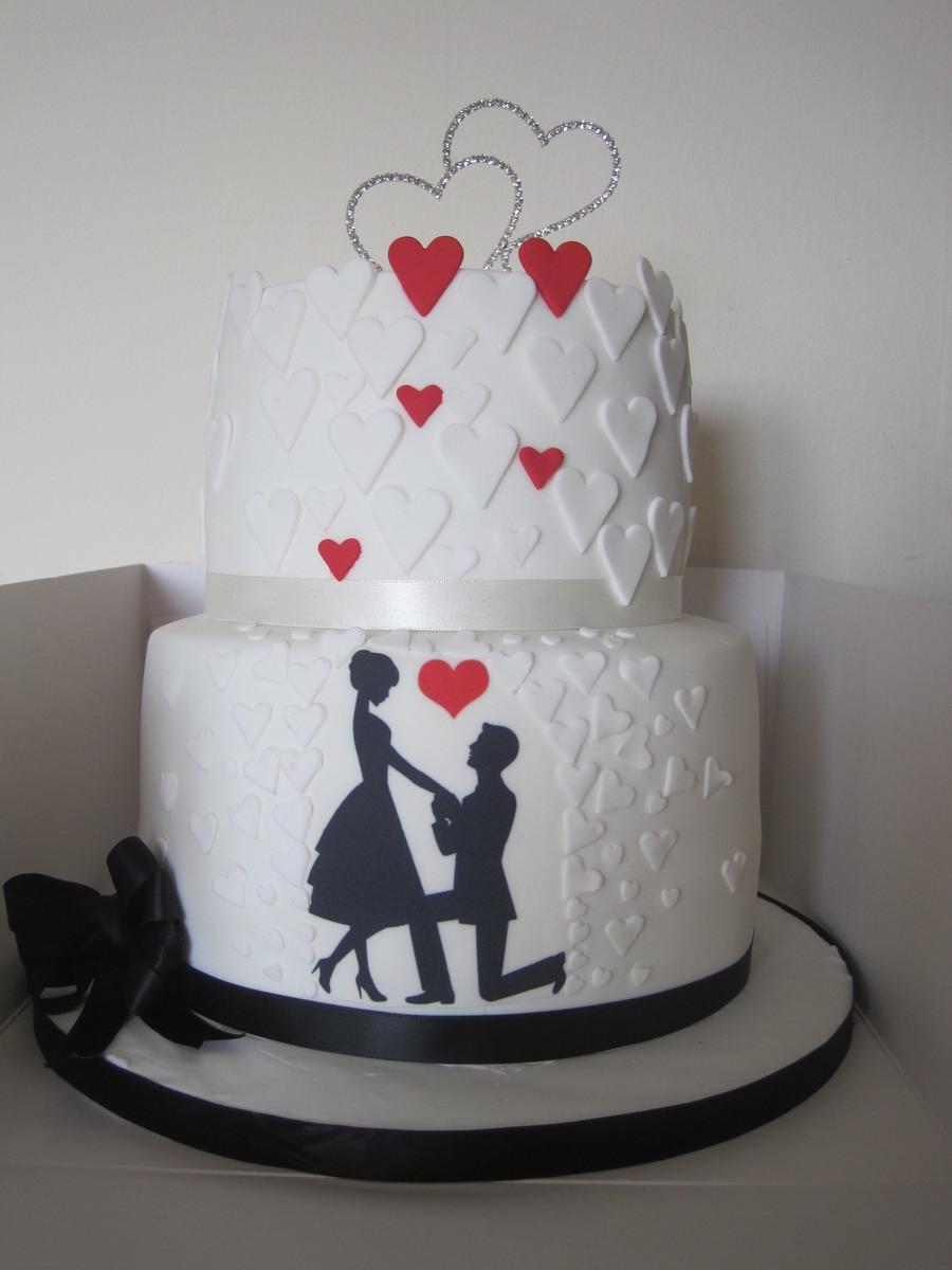 Silhouette Engagement Cake CakeCentral Com