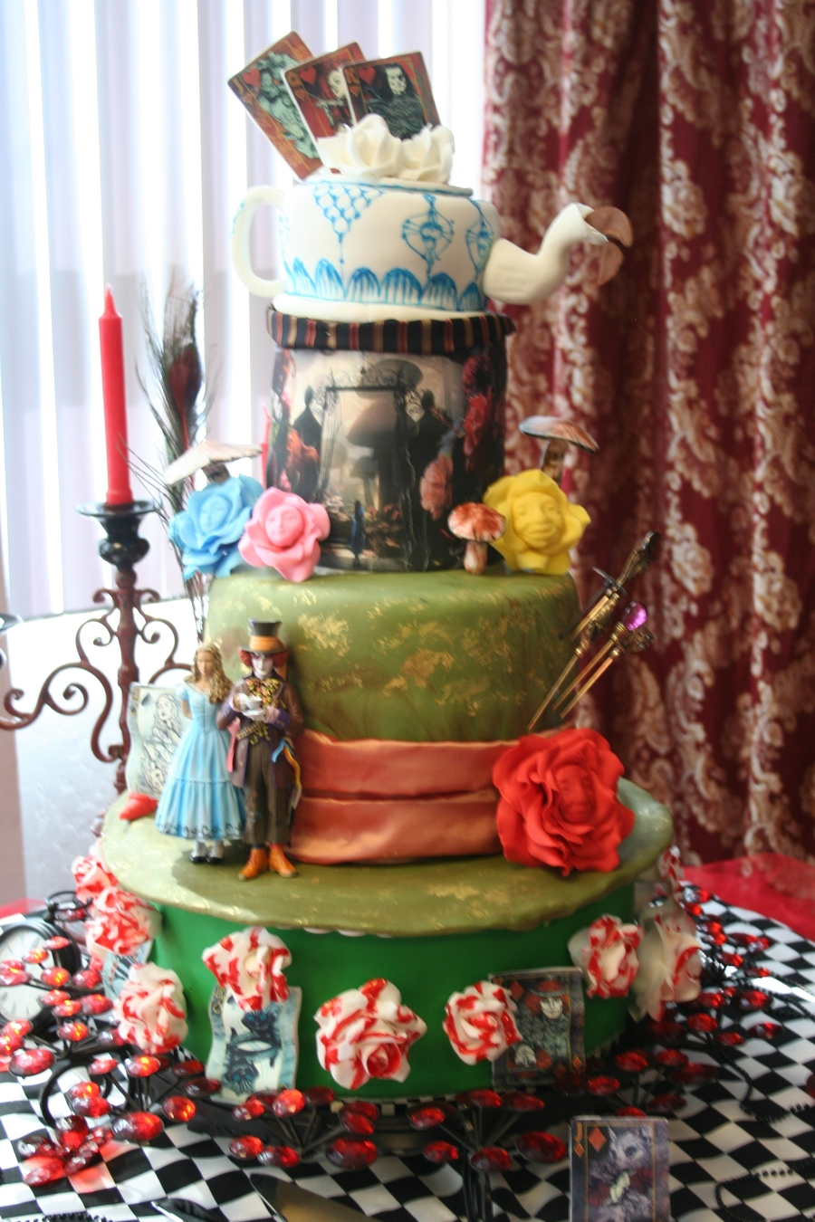 Alice In Wonderland Wedding Cake  CakeCentralcom