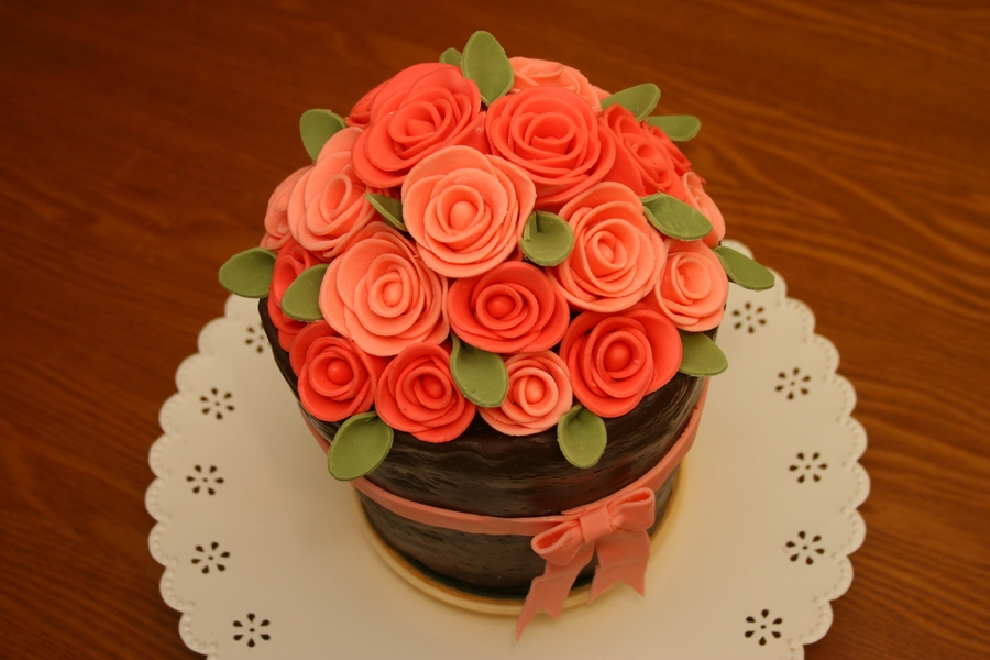 Flower Pot Birthday Cake Cakecentral Com