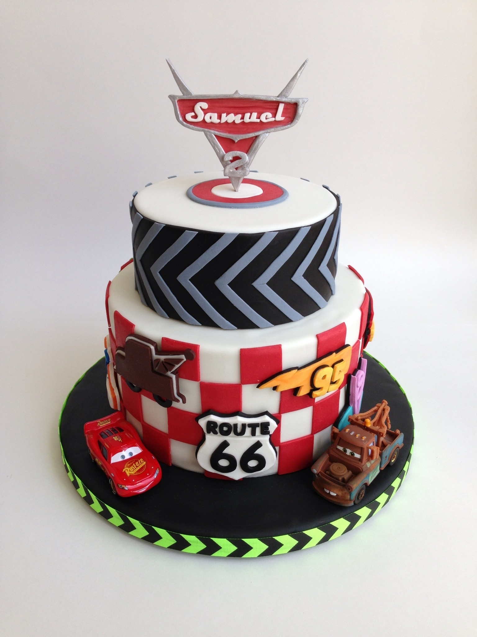 Cars Birthday Cake For A Two Year Old