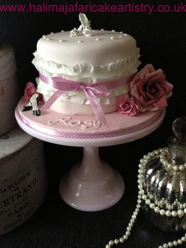 Girly 21st Birthday Cake