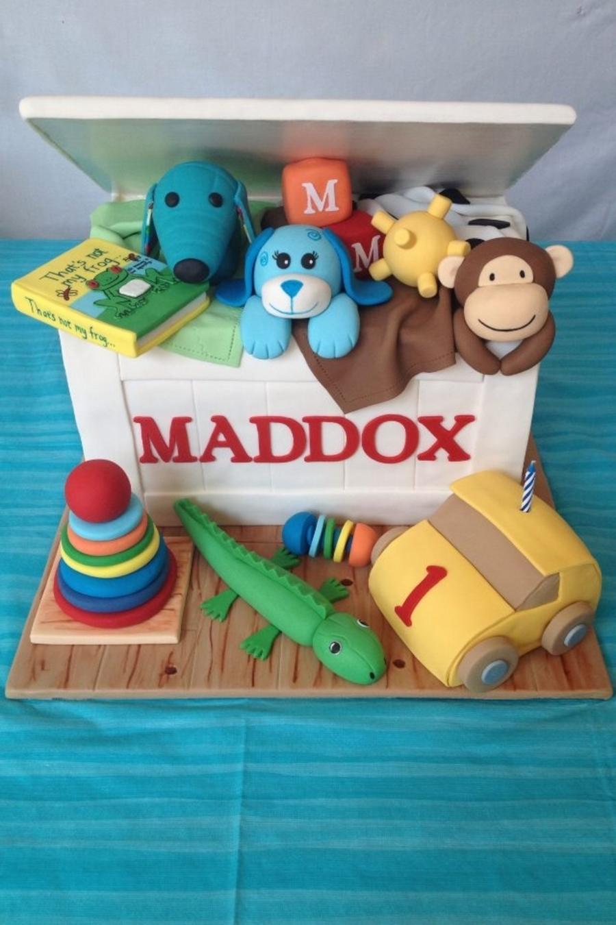 Toy Box Birthday Cake  CakeCentralcom