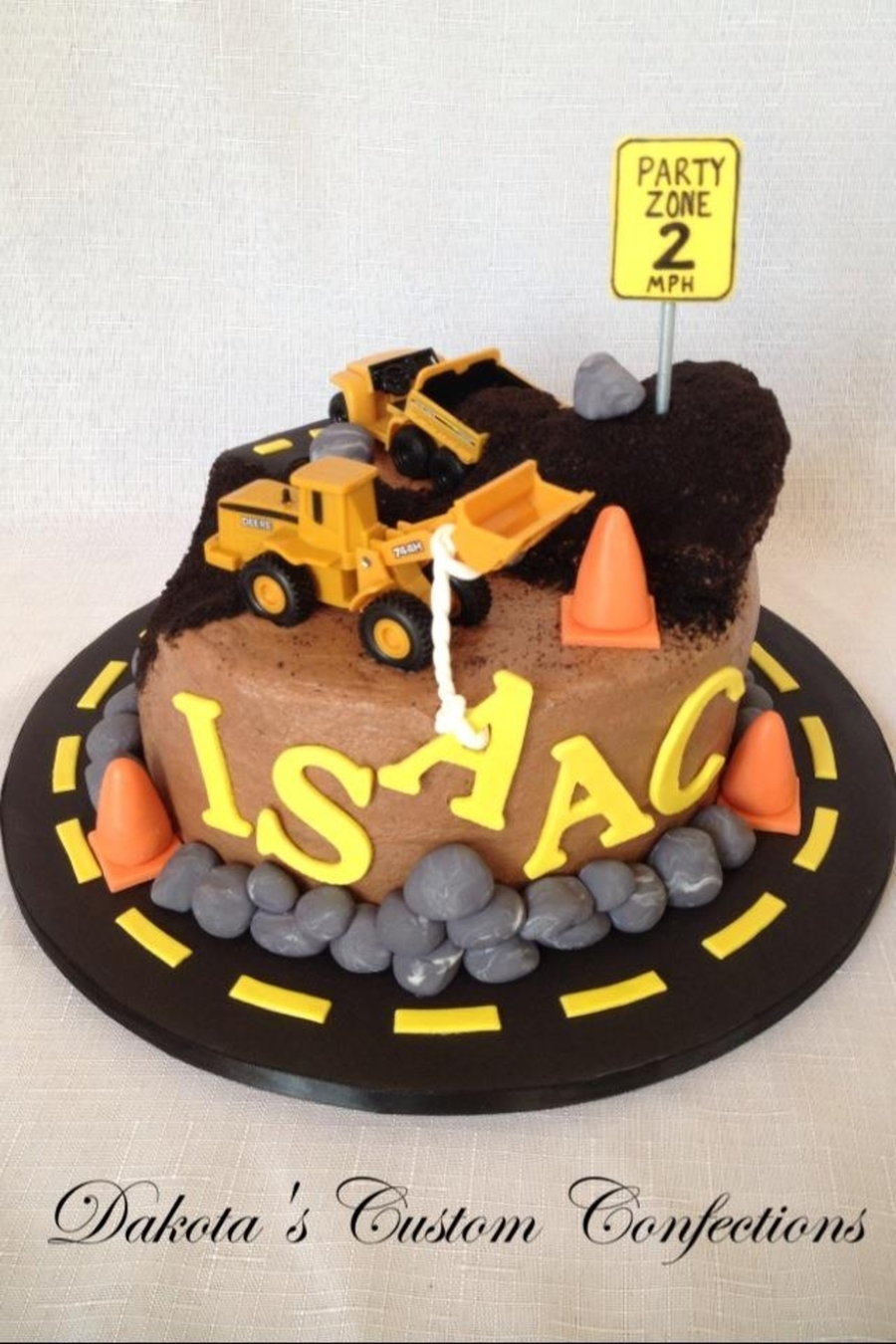 Construction Zone Birthday Cake Cakecentral Com