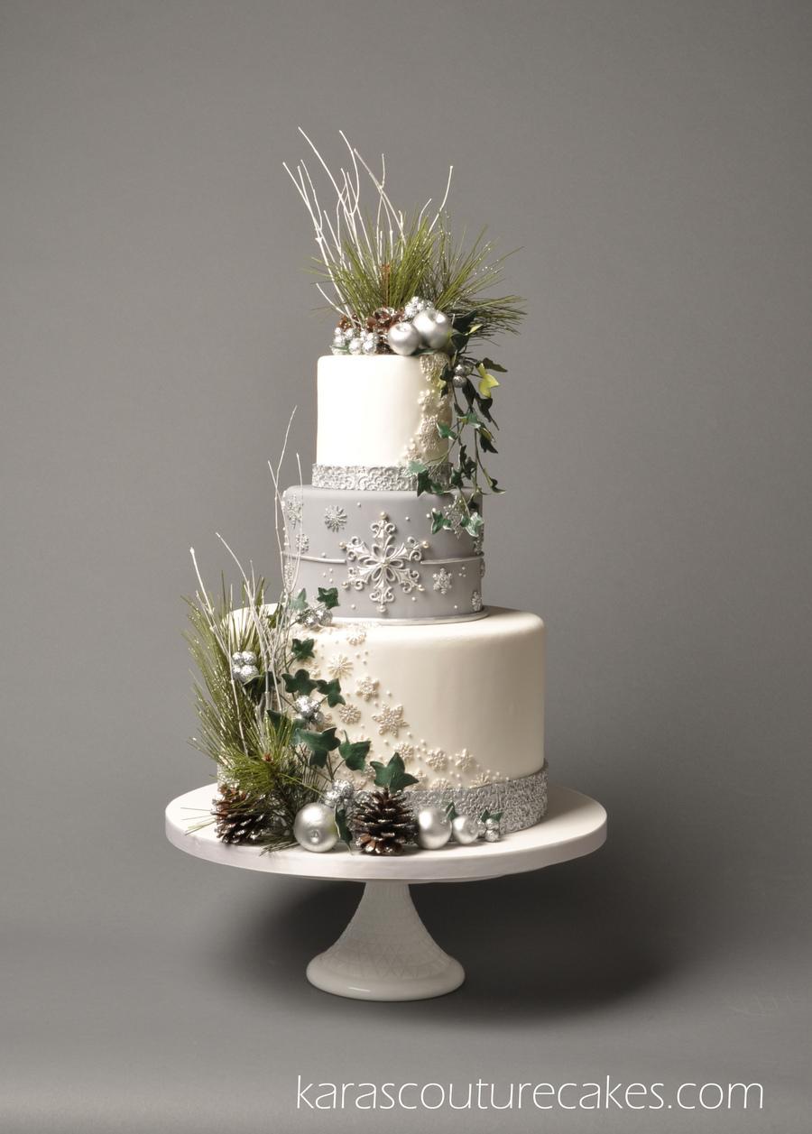 Cake Central Magazine Winter Silver Wedding Theme  Volume