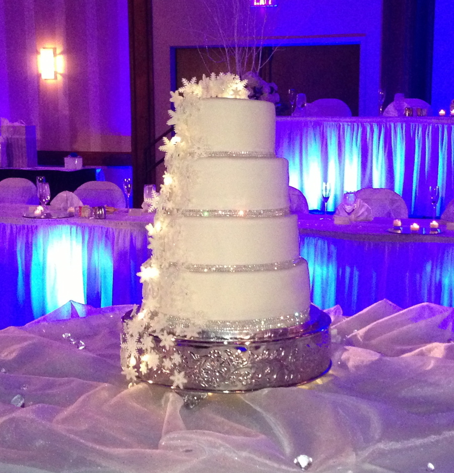 Heath And Caseys Wedding Cake Snowflakes And Bling Covered
