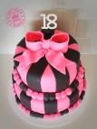 Pink and Black 18th Birthday Cake