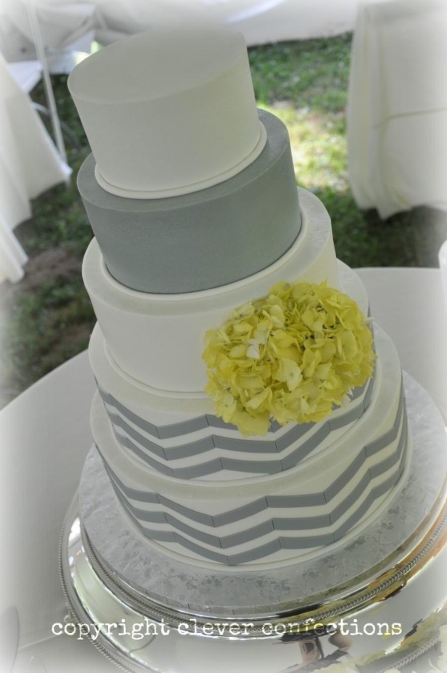 Buttercream Cake Tutorial Chevron