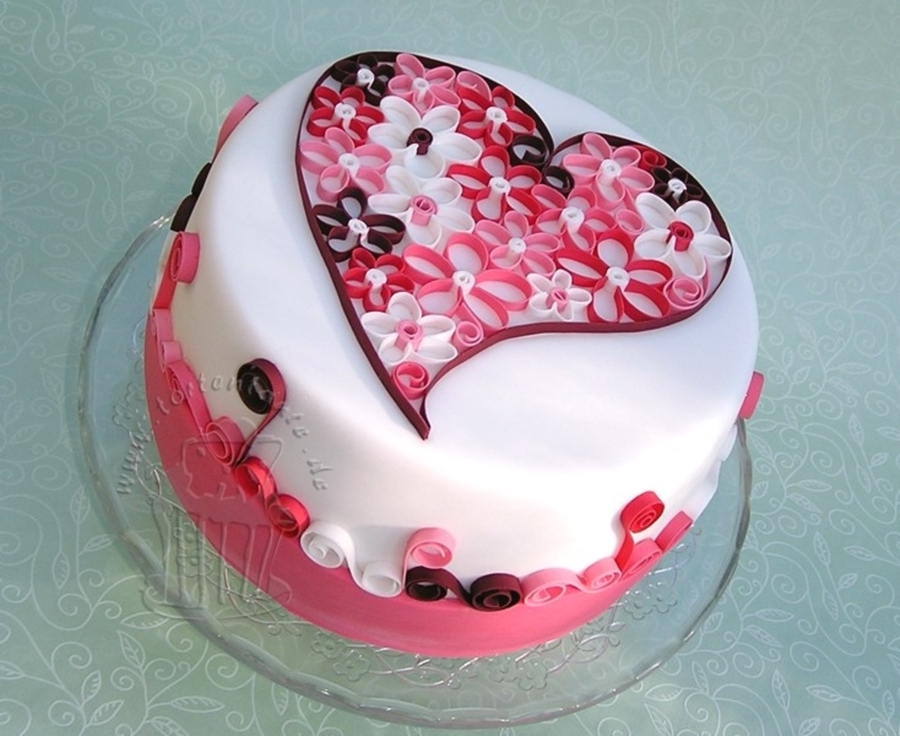 Quilling Heart  CakeCentralcom