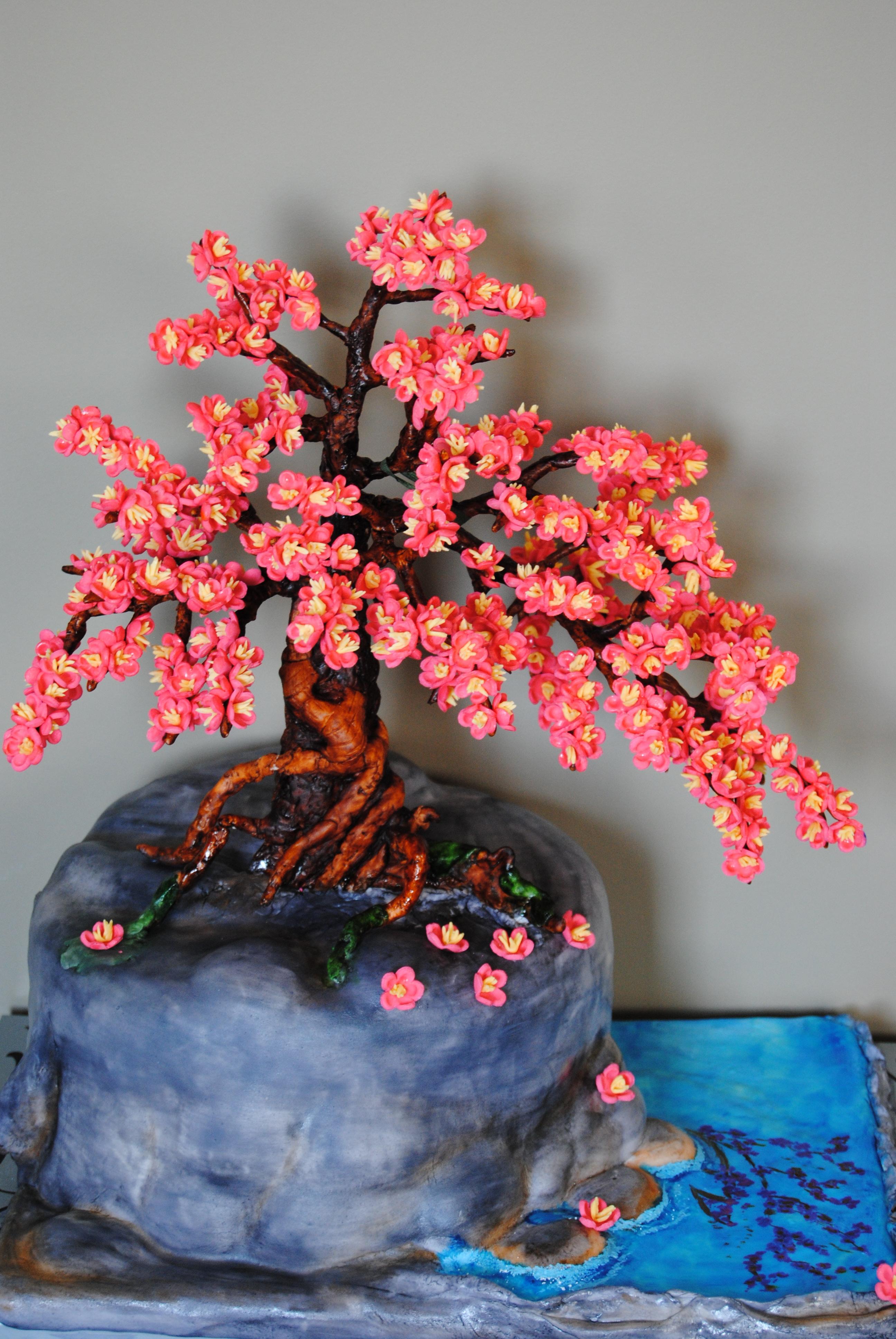Bonsai Cherry Blossom Tree Cake Cakecentral Com