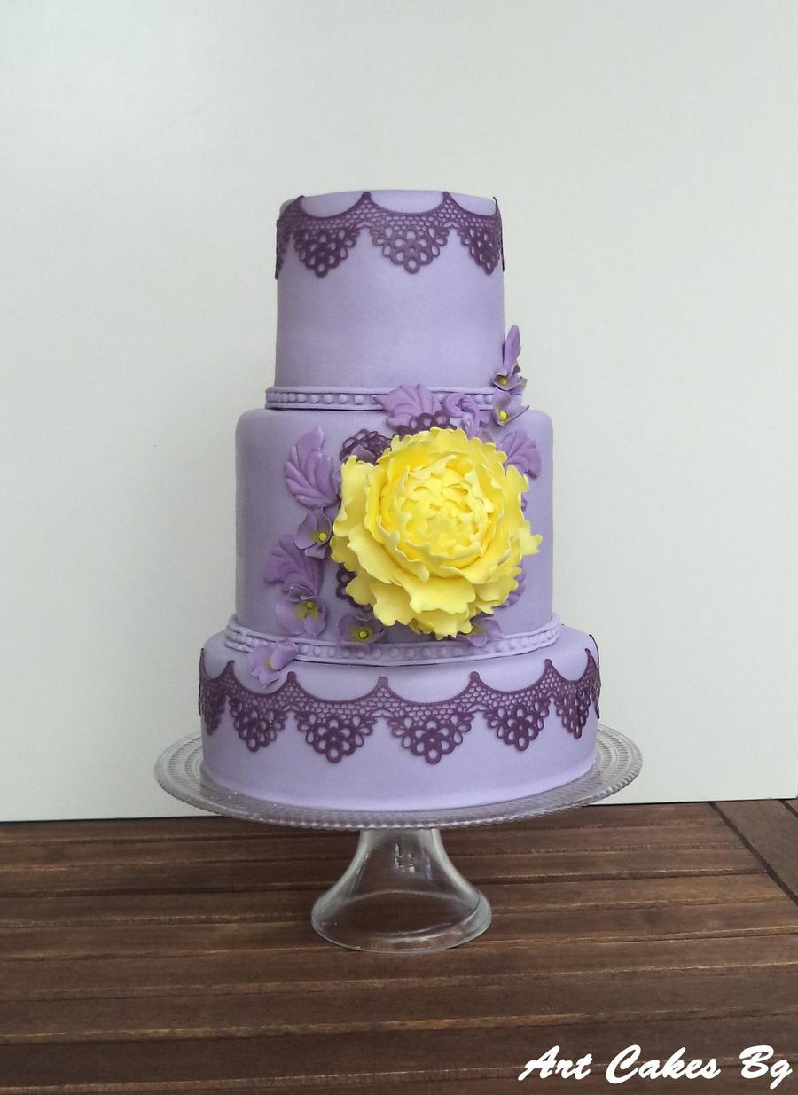 Purple And Yellow Cake Inspiration Cakecentral Com