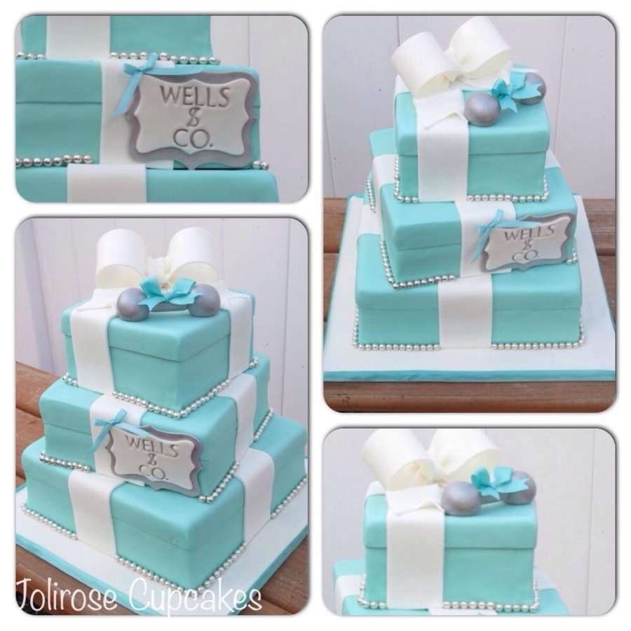 Tiffany Baby Shower Cake  Cakecentralcom
