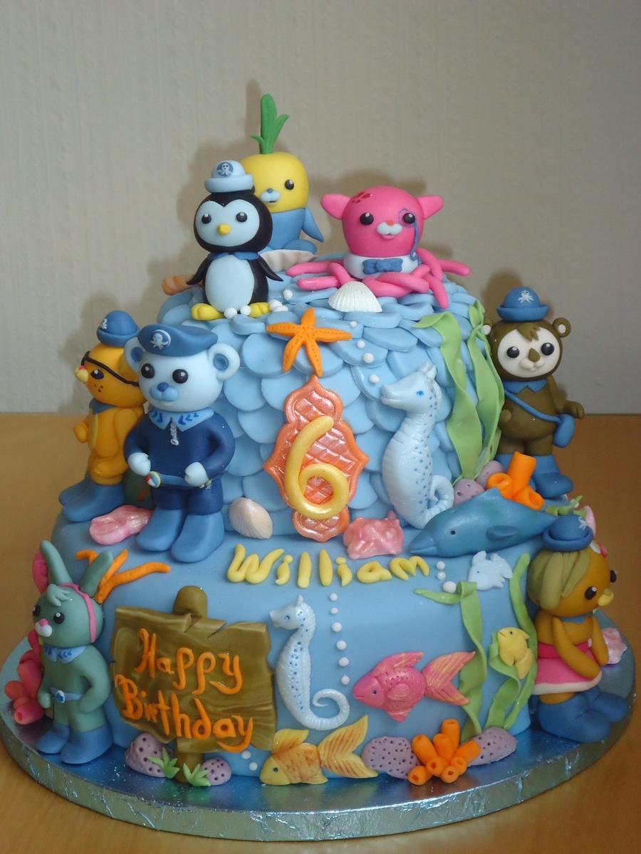 Octonauts Birthday Cake Chocolate Fudge Cake With