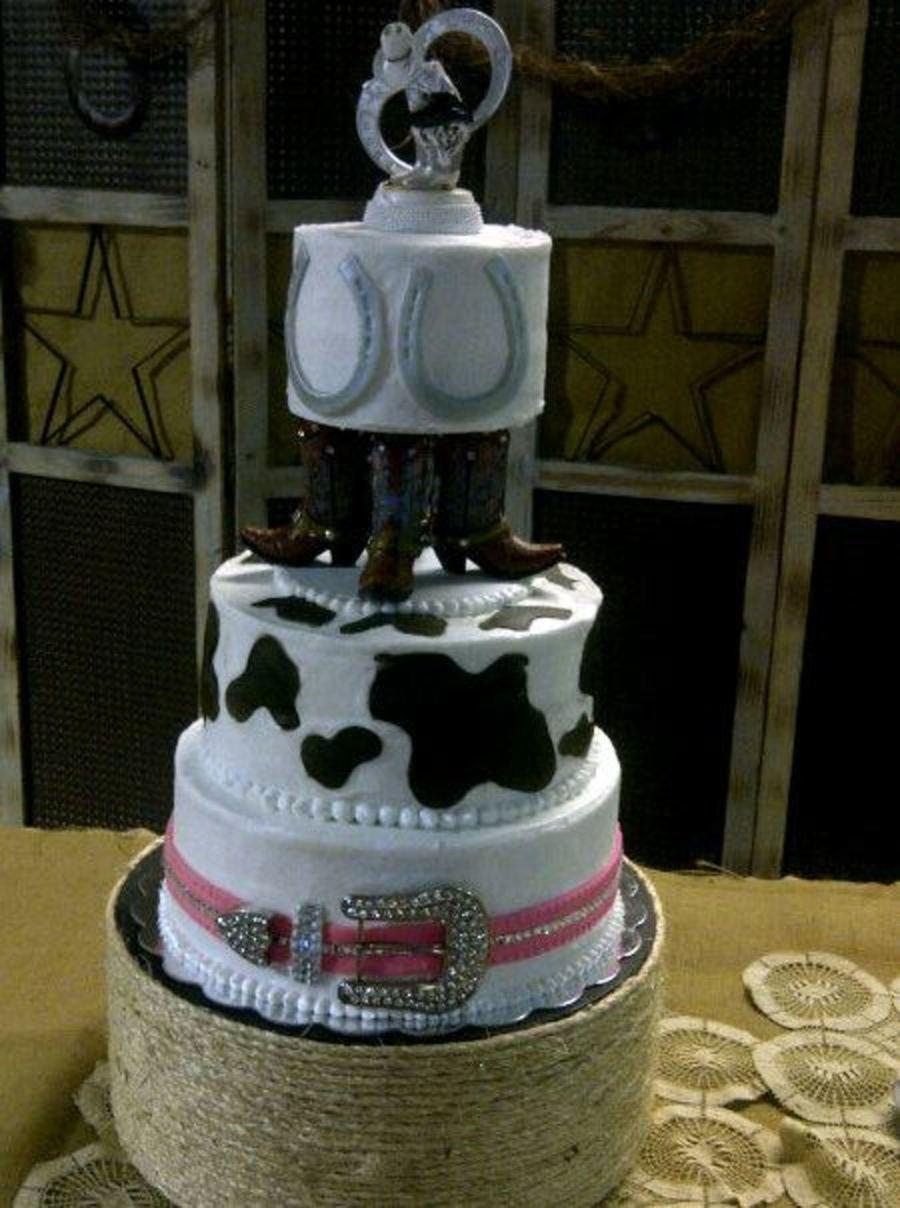 Western Wedding Cake By Robyn Montgomery  CakeCentralcom
