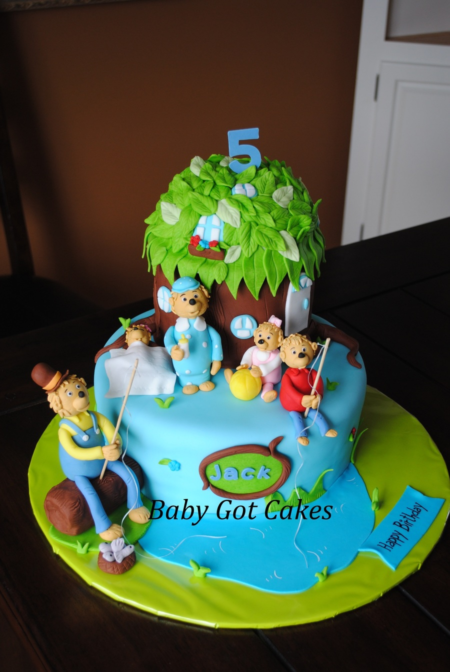 Berenstain Bears Treehouse Two Tier Covered In Fondant