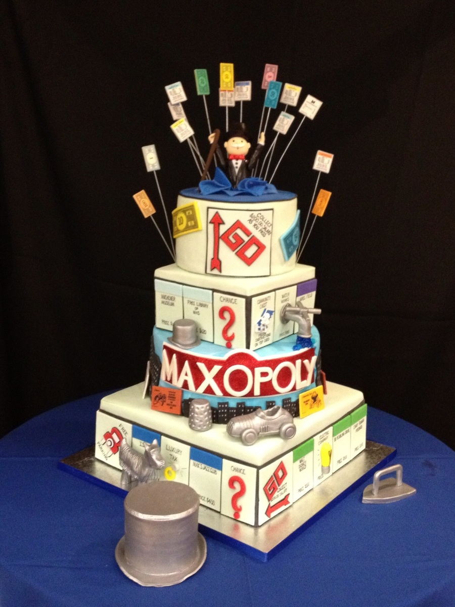 Monopoly Themed Bar Mitzvah Cake  CakeCentralcom