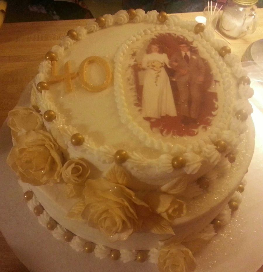 40th Wedding Anniversary Cake For My Best Friends Parents White