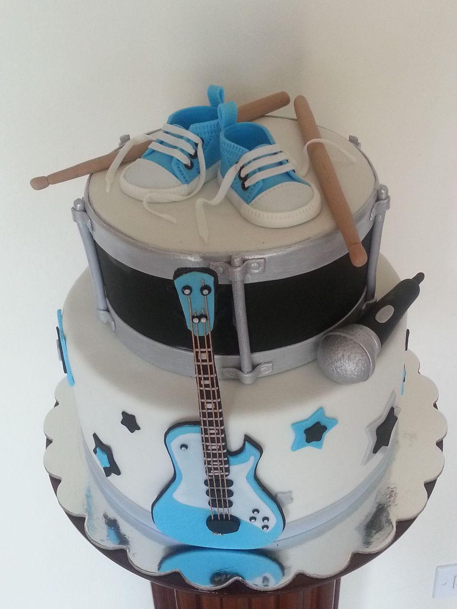Rock Star Baby Shower Cake  CakeCentralcom