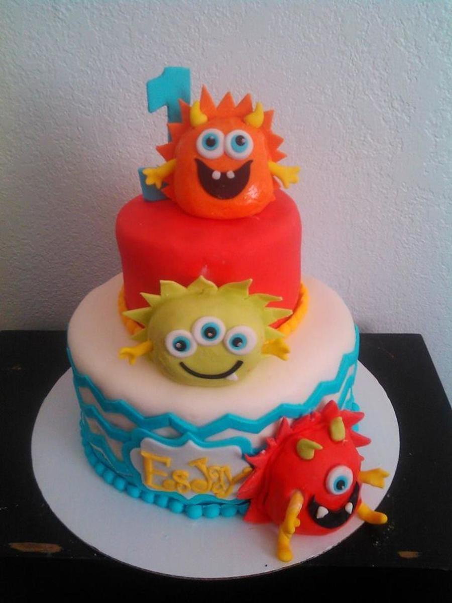 1st Birthday Baby Monster Cake Cakecentral Com