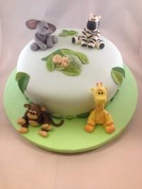 Animal Safari Baby Shower Cake - CakeCentral.com