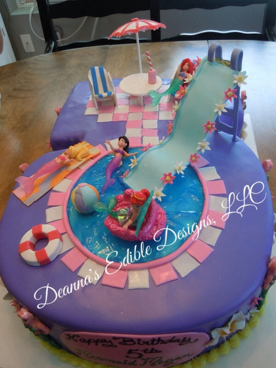 Pool Party Cake Cakecentral Com