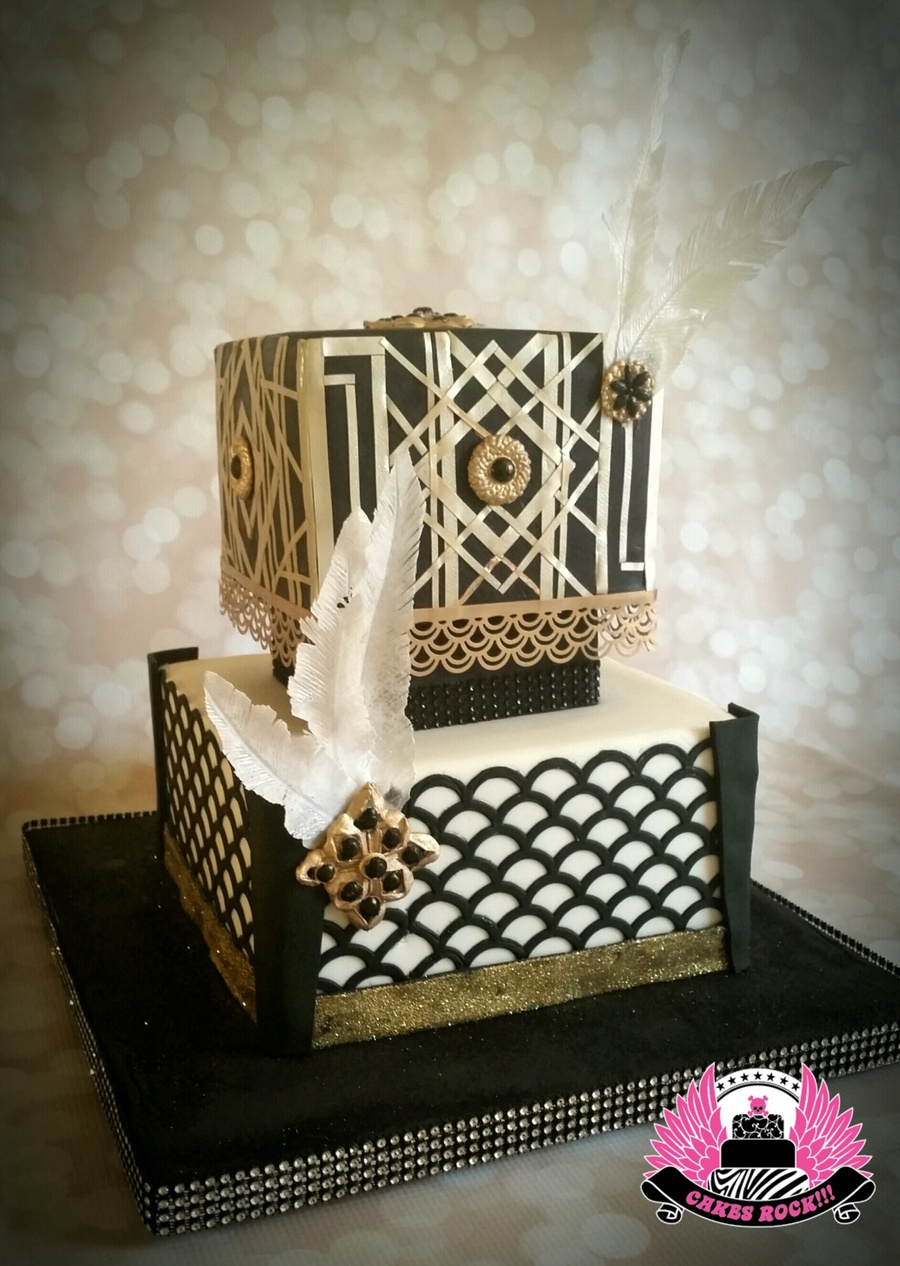 Young Amp Beautiful Gatsby Themed 40th Birthday Cake