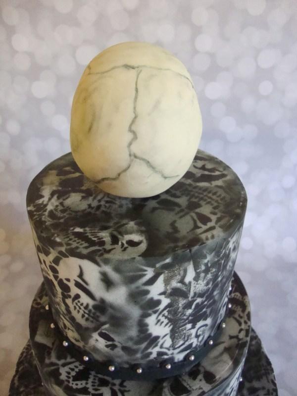 Airbrushed Skulls Birthday Cake Harley Davidson