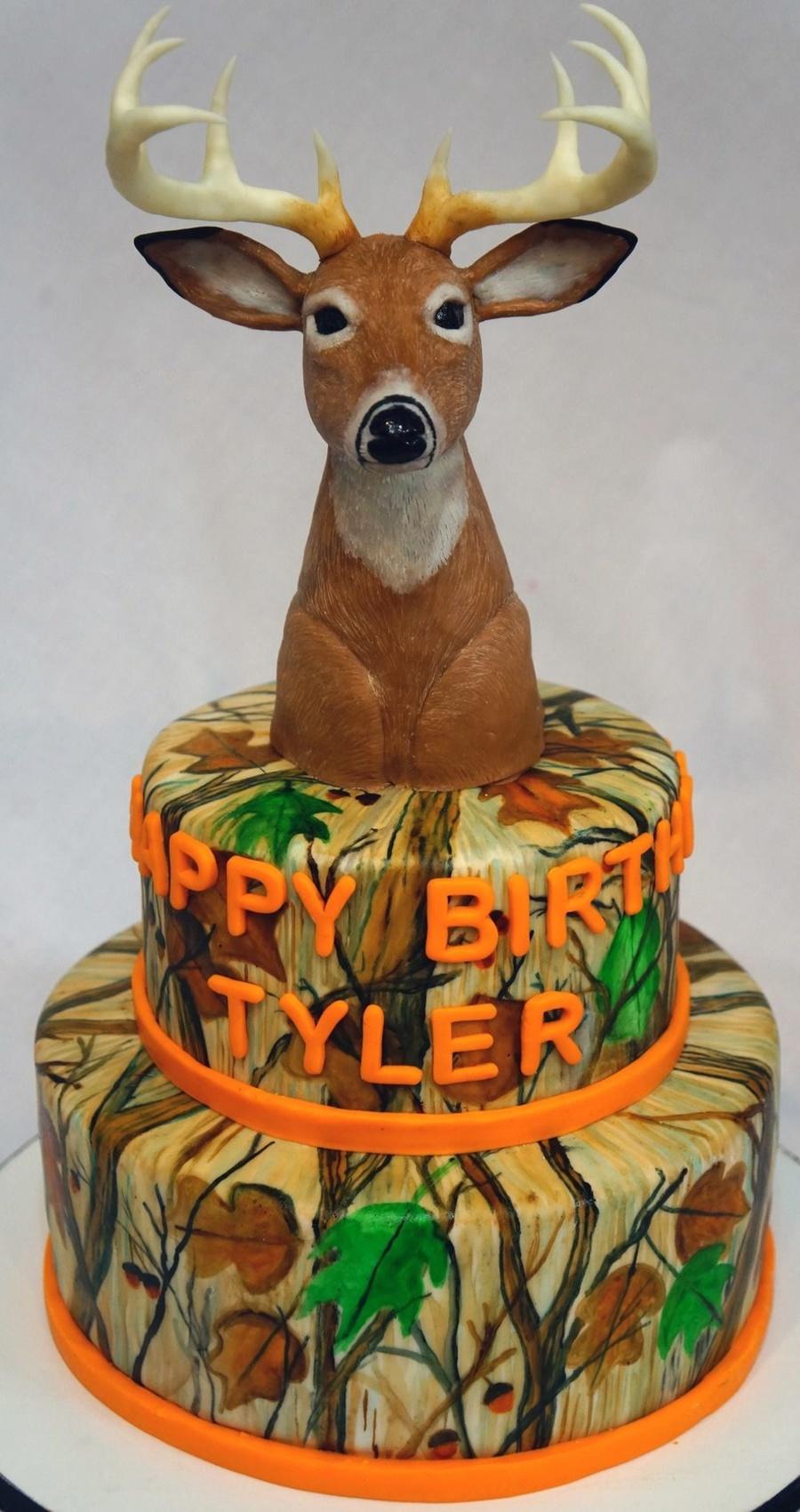My Deer Head Cake The Camouflage Artwork Is Hand Painted