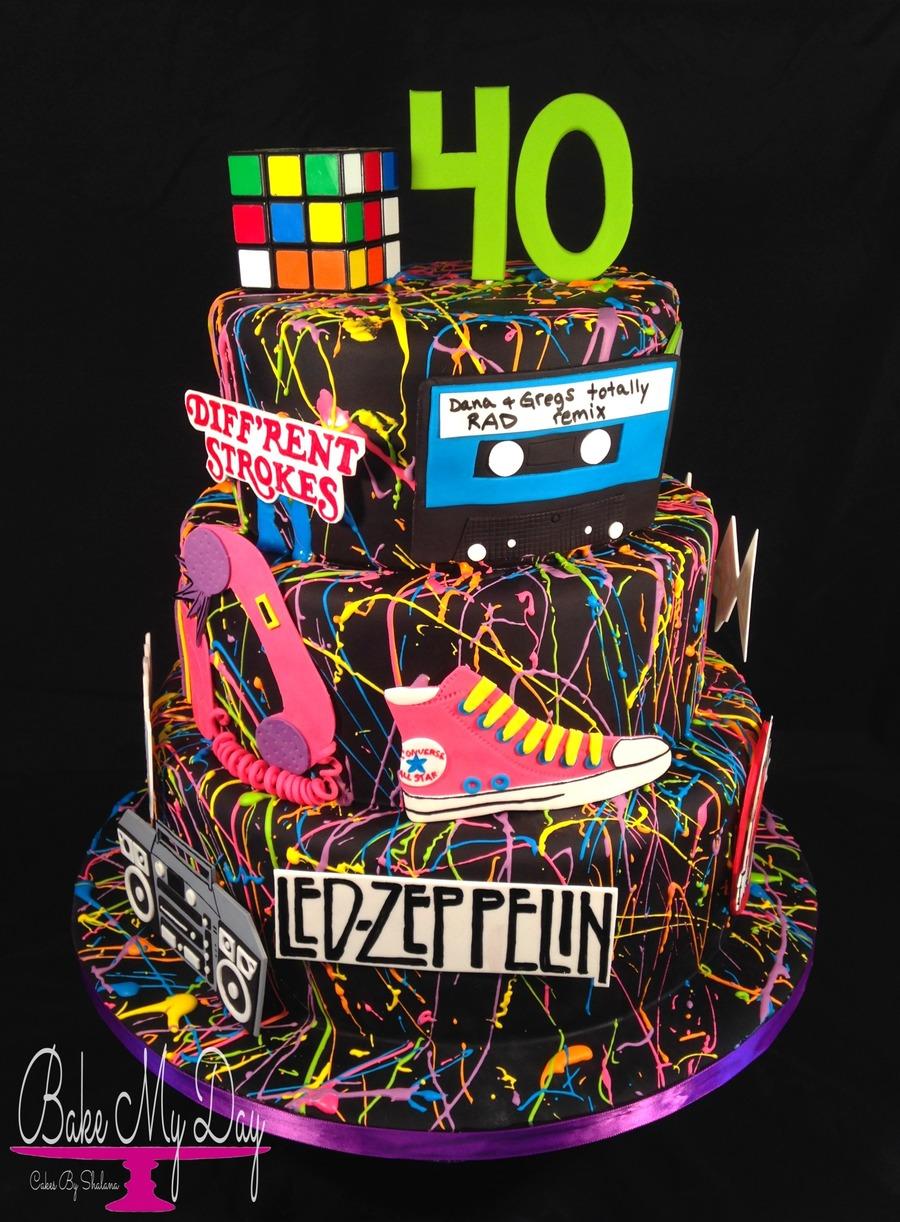 80S Themed Birthday Cake  CakeCentralcom