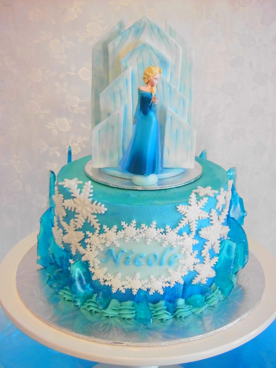 Frozen Buttercream Cake Cakecentral Com