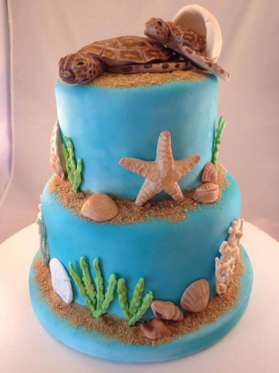 Sea Turtle Baby Shower Cake  CakeCentralcom