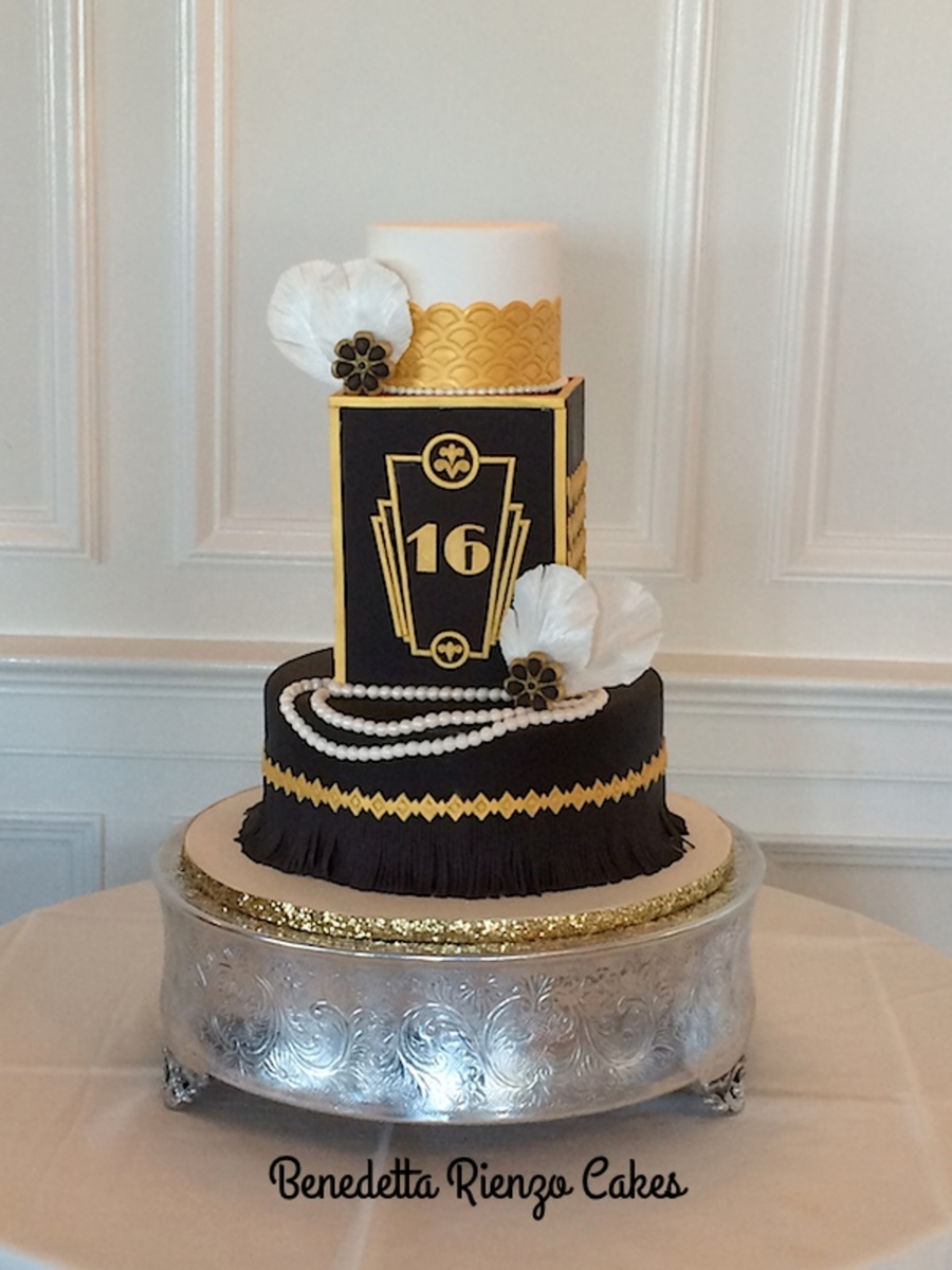 The Great Gatsby Sweet Sixteen Cake