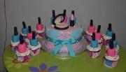 spa cake and cupcakes